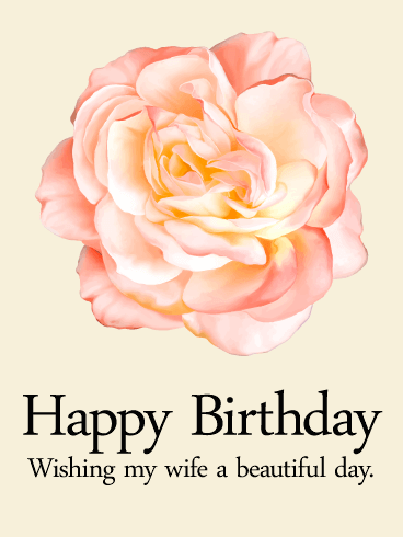 Birthday Beautiful Greeting Cards For Wife