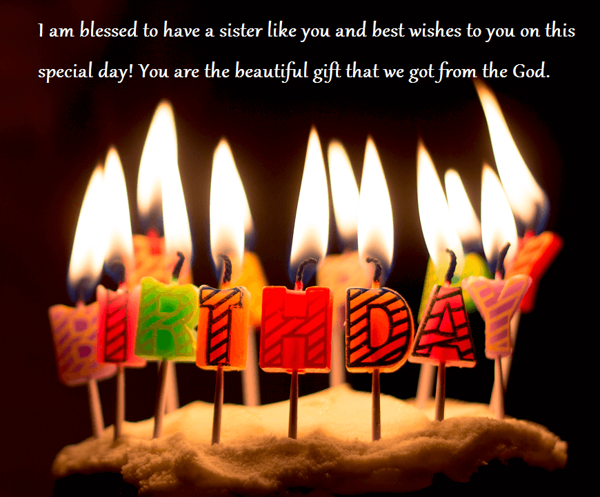 Birthday Cake Wishes Quotes For Sister