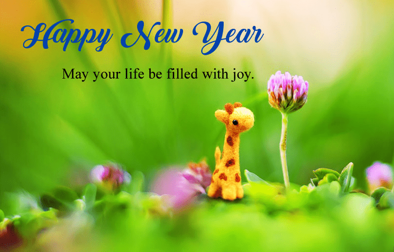 Cute Nature Happy New Year Image