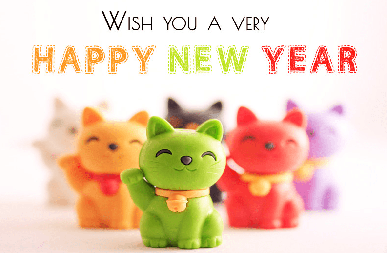 Cutie Pie Happy New Year Cartoon Pictures