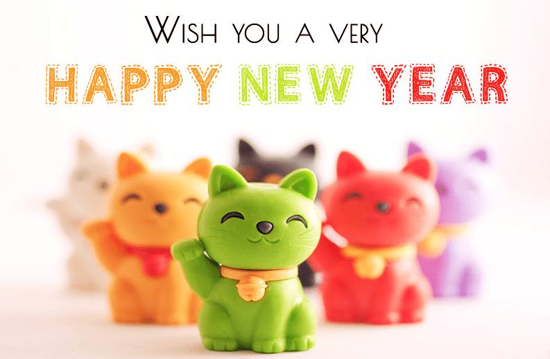 Cutie Pie Happy New Year Cartoon Pictures