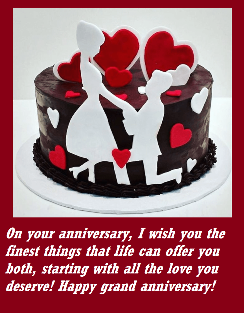 Happy Anniversary Cute Cake Messages
