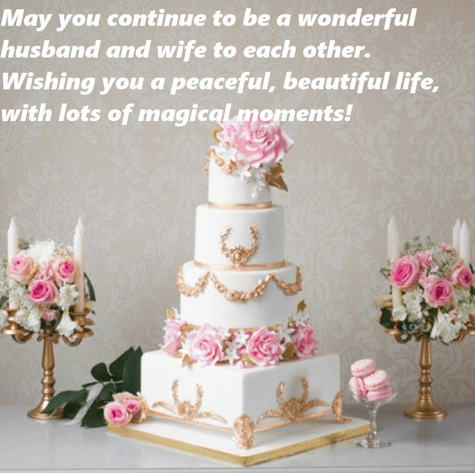 Happy Anniversary Wishes Cake Flowers Images