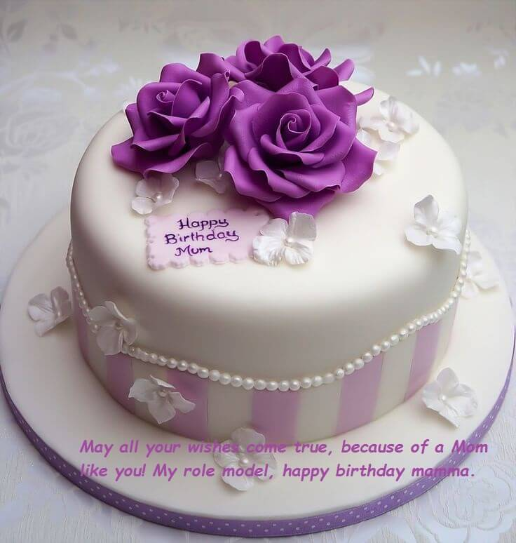 Happy Birthday Cake Wishes Images For Mom