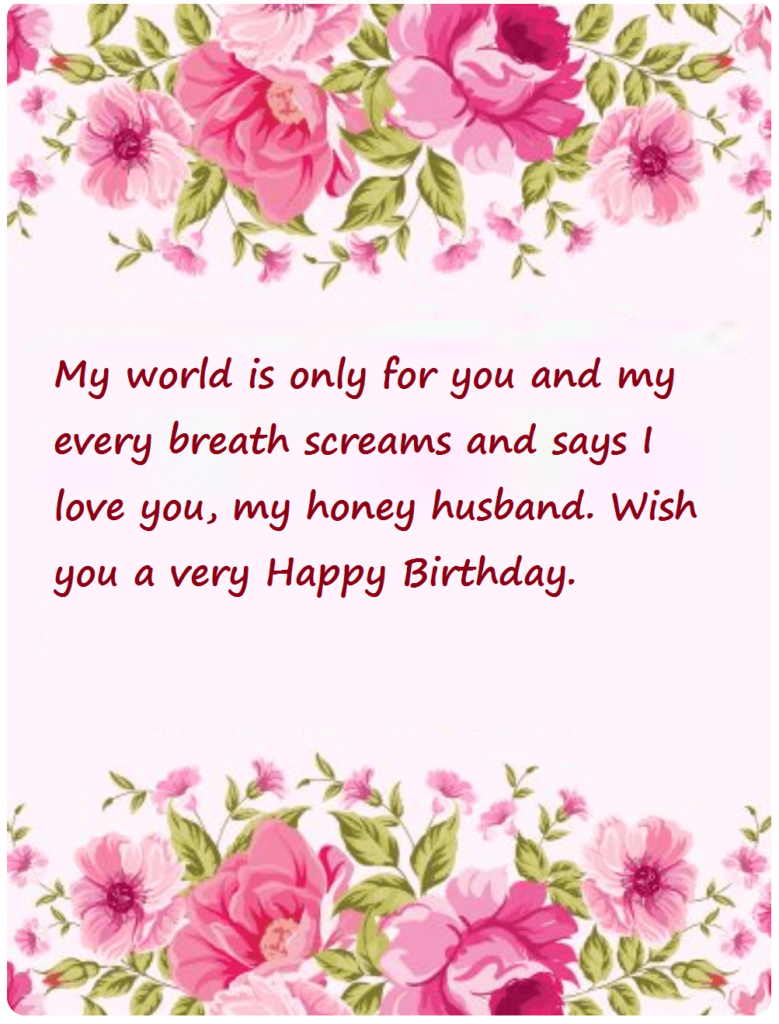 Happy Birthday Love Wishes For Husband
