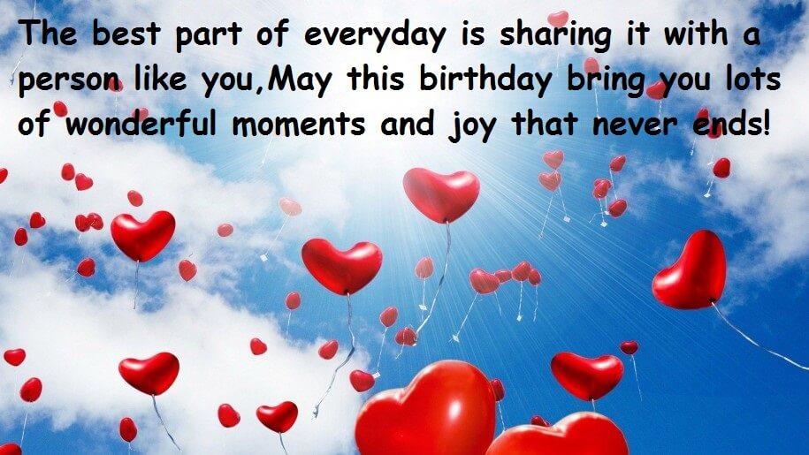 Happy Birthday Romantic Wishes For My Love