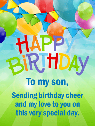 Awesome 150 Happy Birthday Son Happy Birthday Wishes For Your Son Personalised Birthday Cards Veneteletsinfo