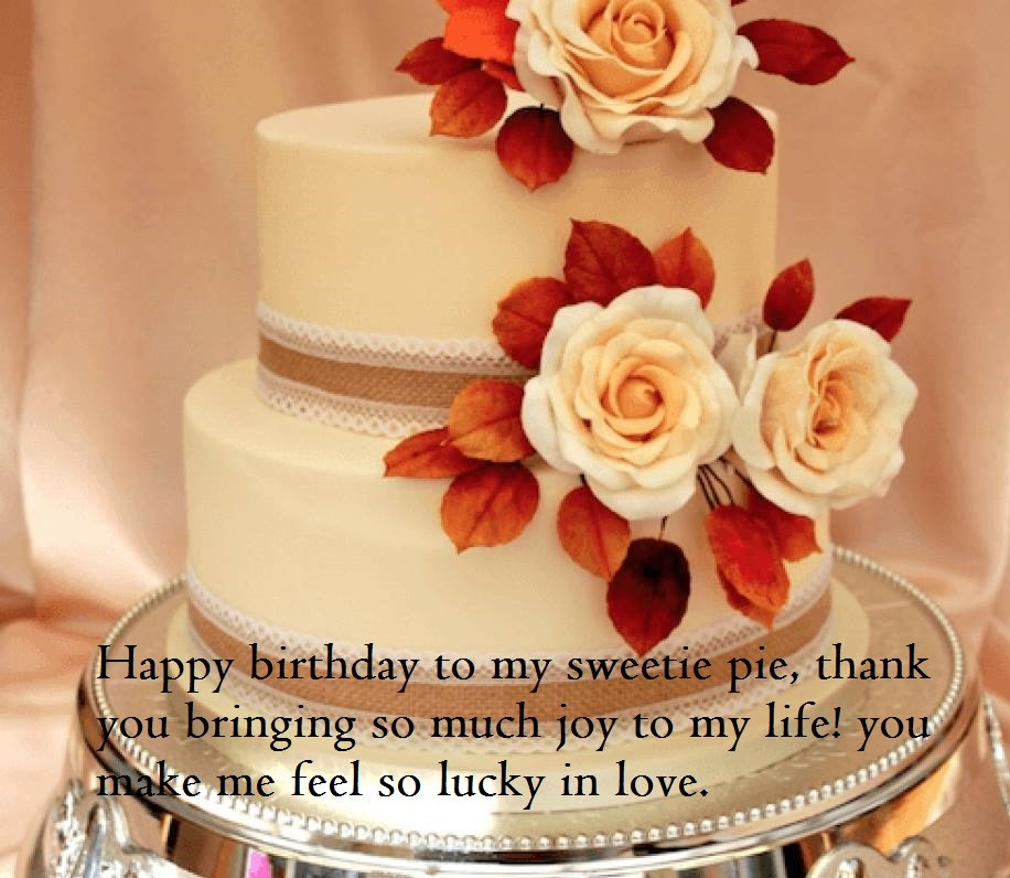 Happy Birthday Wishes For Wife With Cake