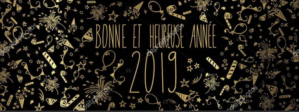 Happy New Year 2019 in French