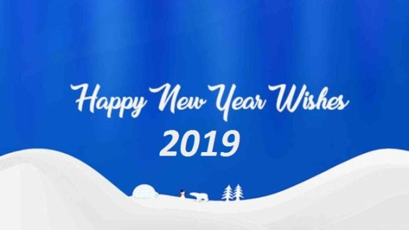 Happy New Year Greetings Card With Name 2019
