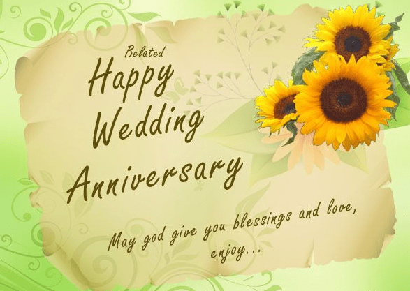 Happy Wedding Anniversary Greeting Cards Wishes