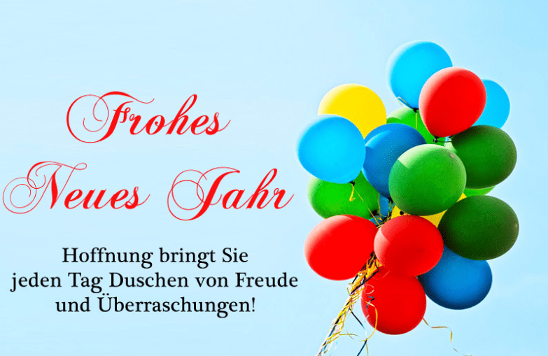Latest German New Year Greetings
