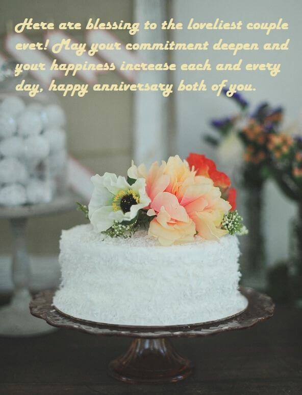 Marriage Anniversary Cake Wishes Sayings