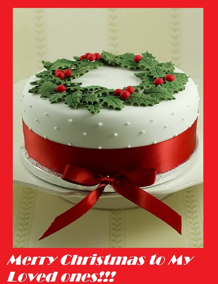 Merry Christmas Cake Sayings Images