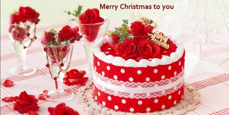 Merry Christmas Cute Cake Wishes