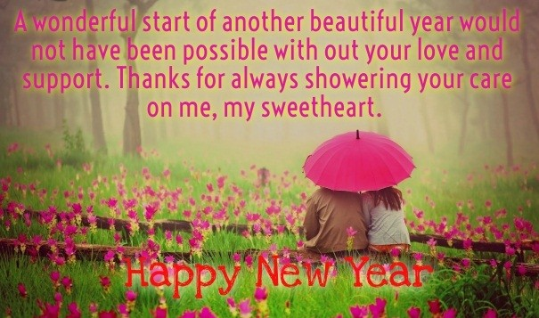 Romantic Happy New Year Messages for your Sweetheart