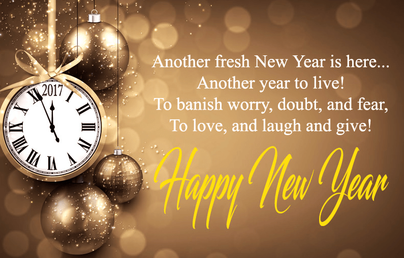 Short & Best Happy New Year Poems in English