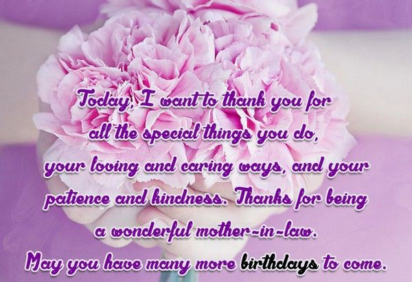 Happy Birthday Mother-In-Law Greetings