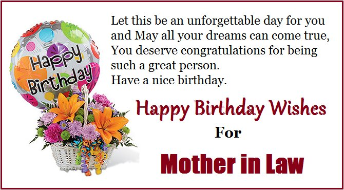 Happy Birthday My Dear Mother-In-Law