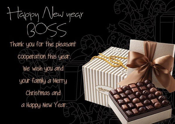 New Year Messages Greetings for Boss