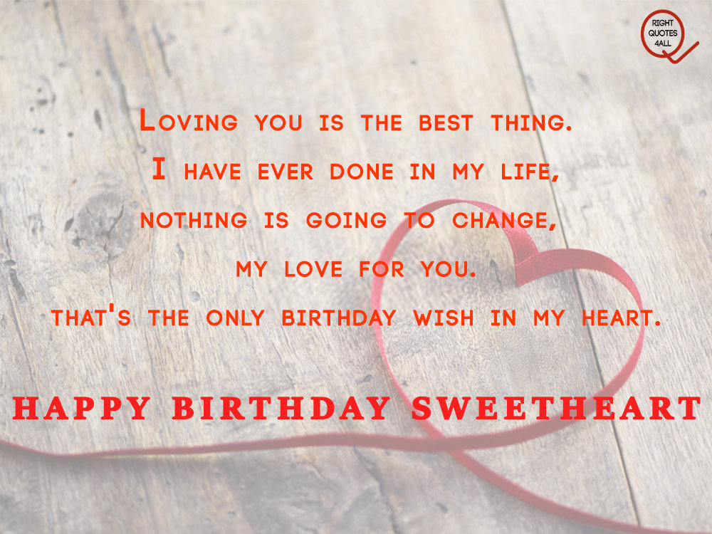 birthday wishes for sweetheart