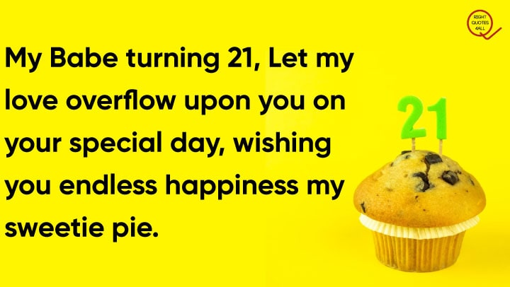 wishes on 21st birthday