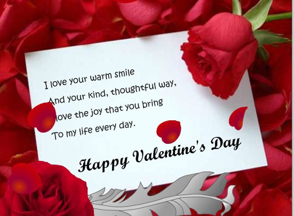 Happy Valentine Day Dear Wife