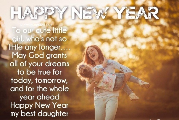 Free Happy New Year Wishes Daughter 2019 From Mothers