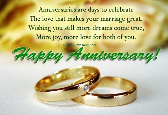 Wedding Anniversary Message For Couple