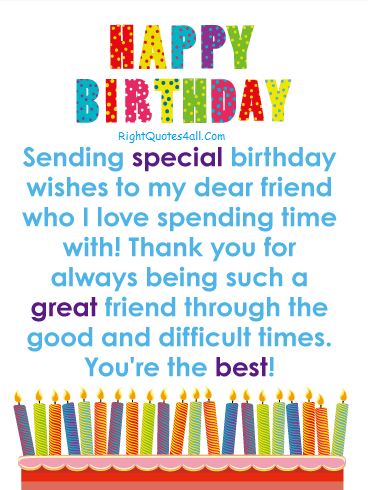 Birthday Wishes for Best Friend.