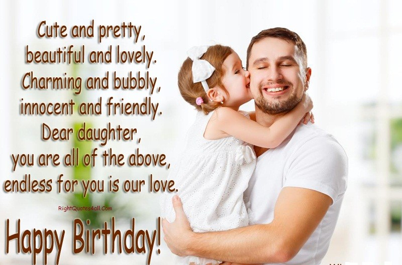CUTE BIRTHDAY WISHES FOR DAUGHTERS