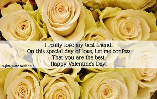 Romantic Valentines Day Wishes For Friend