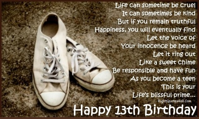 Best Happy 13th Birthday Wishes