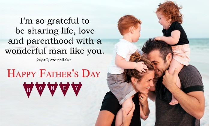 Happy Fathers Day Saying From Wife