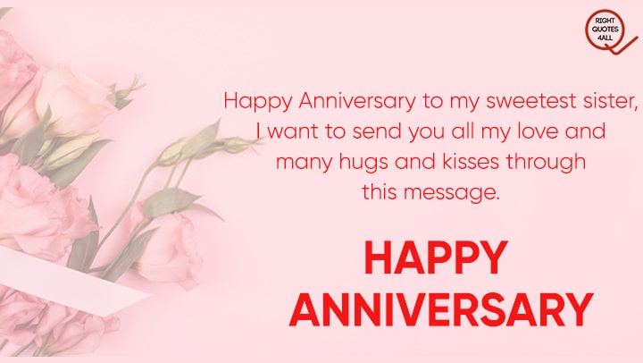 Top Wedding Anniversary Wishes Quotes For Sister
