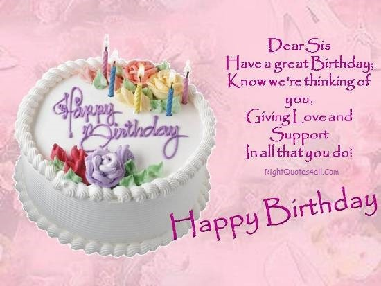 Happy Birthday Sister Quotes and Messages