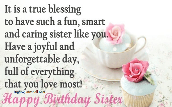 Happy Birthday Wishes For Sister Birthday Messages For Sister