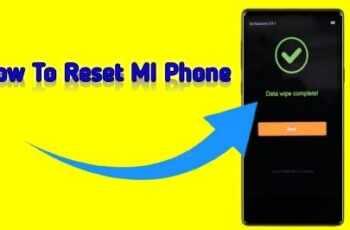How to reset mi phone